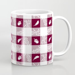 Acorn Plaid - Bordeaux Coffee Mug