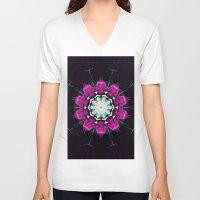 neon V-neck T-shirts featuring Neon by IowaShots