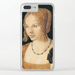 Albrecht Durer - Portrait Of A Young Venetian Woman 1505 Clear iPhone Case