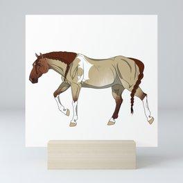 Red Dun Zebra-Striped Sabino Tobiano Paint Horse Mini Art Print
