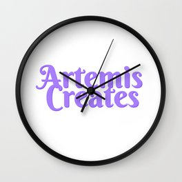 Artemis Creates Main Logo Wall Clock