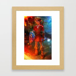 Hero of Time - Fire Temple Framed Art Print
