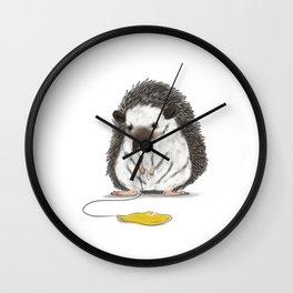 Felipe the Hedgehog and his yellow balloon Wall Clock