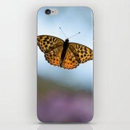 Orange Butterfly iPhone Skin