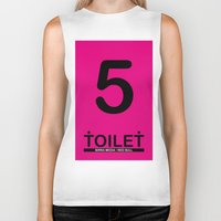 toilet Biker Tanks featuring TOILET CLUB #5 by Toilet Club