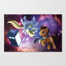 Whooves and Derpy Canvas Print