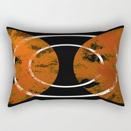 Resonance - Abstract in gold, black and white Rectangular Pillow