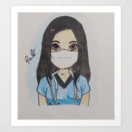 Cammy Nurse Art Print