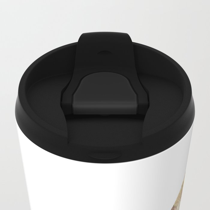 MERMAID GOLD Metal Travel Mug
