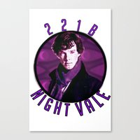 wtnv Canvas Prints featuring Sherlock: WTNV AU by Paris Noonan