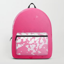 Amour Alphabet Love Rose Pink Glitter Design Backpack
