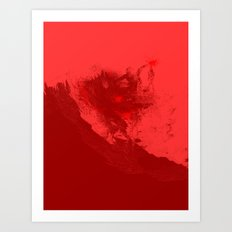 SURFING THE RED SEA Art Print
