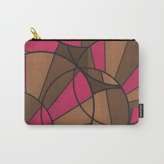 Brown pink pattern abstract . Carry-All Pouch