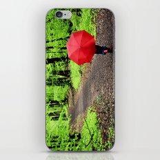 rainy woods iPhone & iPod Skin