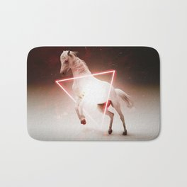 Crazy Horse Reactor Red Triangle Shaped by GEN Z Bath Mat
