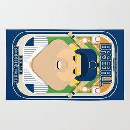 Baseball Blue Pinstripes - Rhubarb Pitchbatter - Sven version Rug