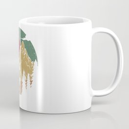 Forest Nature Camping Vibrant Design Coffee Mug