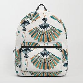 Folding Fan – Teal & Gold Palette Backpack