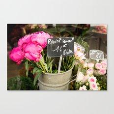Market Flowers - Paris, France Canvas Print