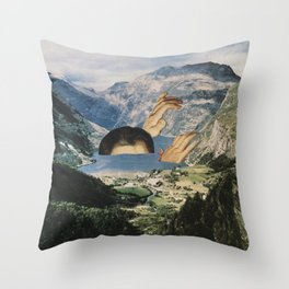 Out of Bath Throw Pillow