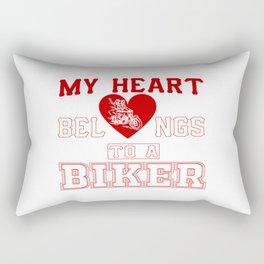 My heart belongs to a Biker Rectangular Pillow