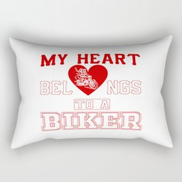 My heart belongs to a Biker Rectangular Pillow