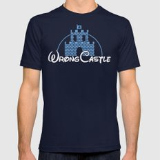 Wrong Castle Navy 2X-LARGE Mens Fitted Tee