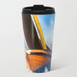 Stormy weather skutsje sailing ship Travel Mug