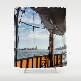 Staten Island Ferry & Lifeboat Shower Curtain
