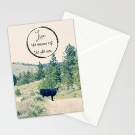 Live Like Someone Left the Gate Open Stationery Cards