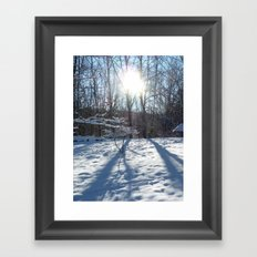 Trunk, Sun, Love. Framed Art Print