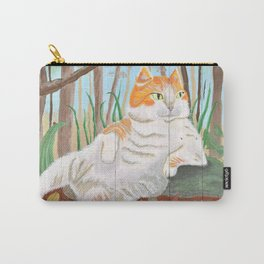 Forest Cat on Pallet Carry-All Pouch