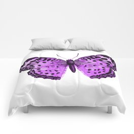 Luxurious Lilac-Pink Butterfly Comforters