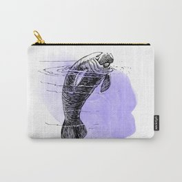 Purple Manatee Carry-All Pouch