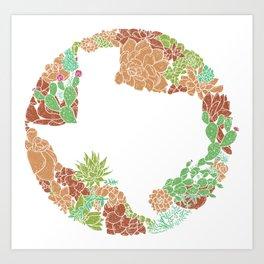 Texas Forever - Earth Art Print