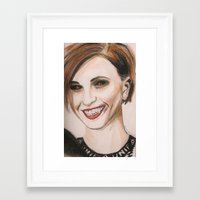 hayley williams Framed Art Prints featuring Hayley Williams - Vampire  by Meliese Reid