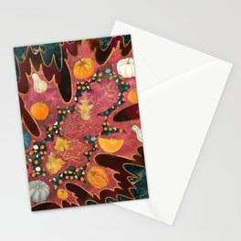Abstract Halloween Harvest Stationery Cards