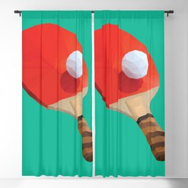 Ping Pong Paddle polygon art Blackout Curtain
