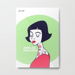 Amelie Poulain Metal Print