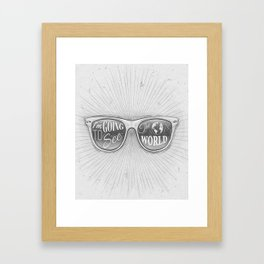 Going to see the world Framed Art Print