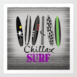 Chillax Surf Art Print