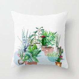 Plants 2 Throw Pillow