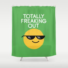 Froze Colored Glasses Shower Curtain