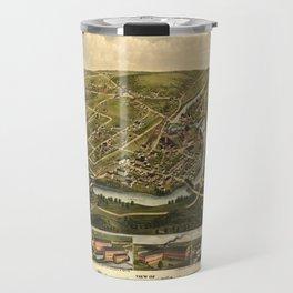 Aerial View of Seymour, Connecticut (1879) Travel Mug