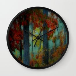 Autumn Fog Wall Clock