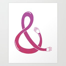 Handpersand - Pink and Red Art Print