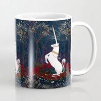unicorn Mugs featuring Unicorn by Danse de Lune