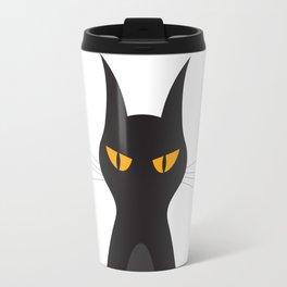 Halloween Vampire Cat Portrait Travel Mug