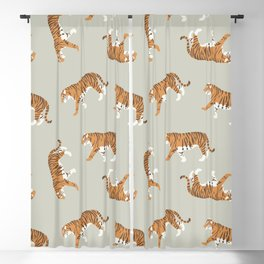 Tiger Trendy Flat Graphic Design Blackout Curtain