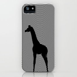 Giraffe Psychedelic Silhouette  iPhone Case